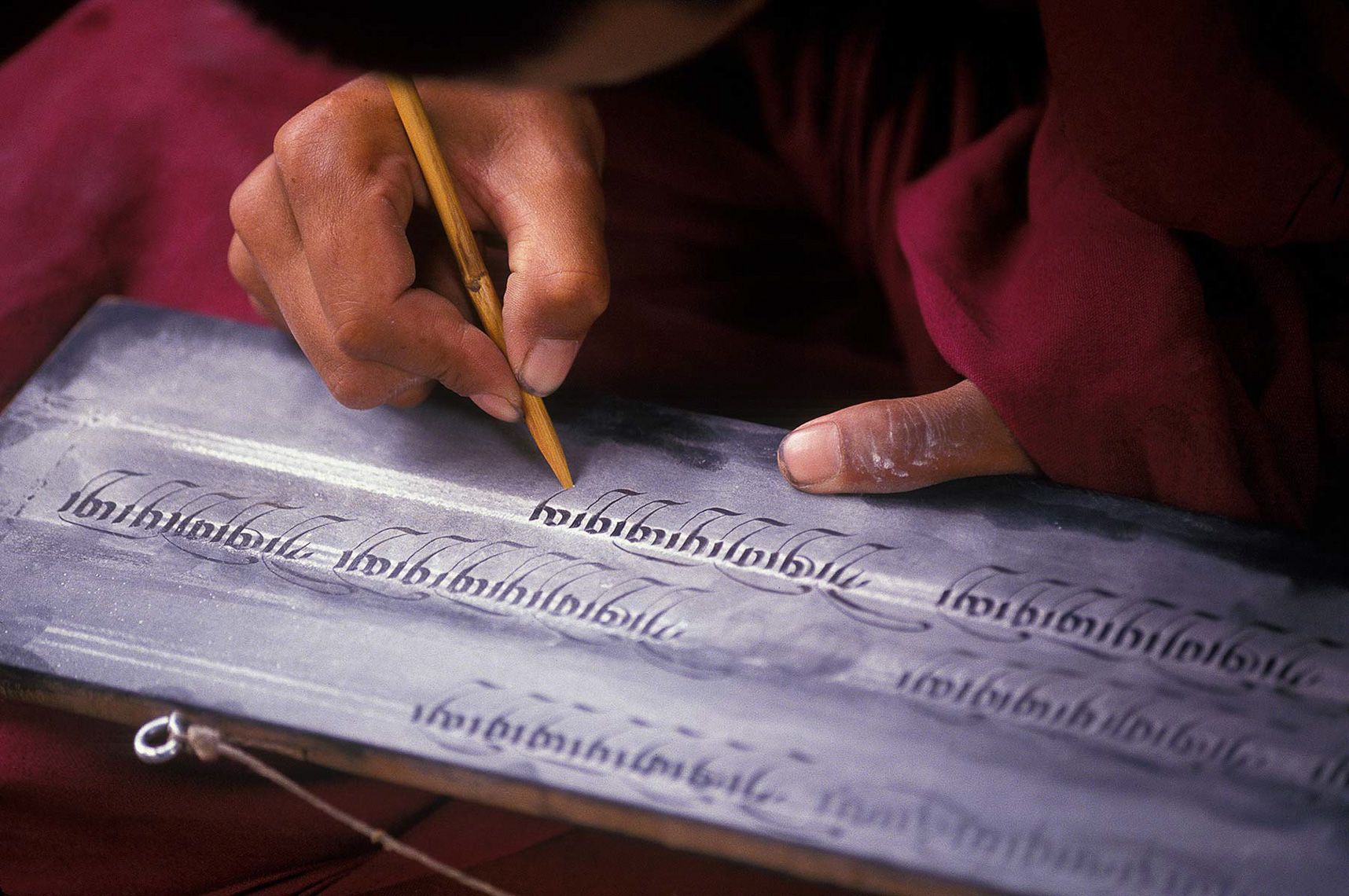 059-China-Monk-writing